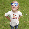 Sprinklecart Personalized Name Printed Kids Volleyball Poly-Cotton Birthday Tee Wear (White)