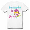 Sprinklecart Skater Girl Personalized 6th Birthday Kids Poly-Cotton T Shirt for Your Little One (White)