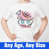 Sprinklecart Let's Roll into 10 Printed Kids Birthday T Shirt, Poly-Cotton (White)