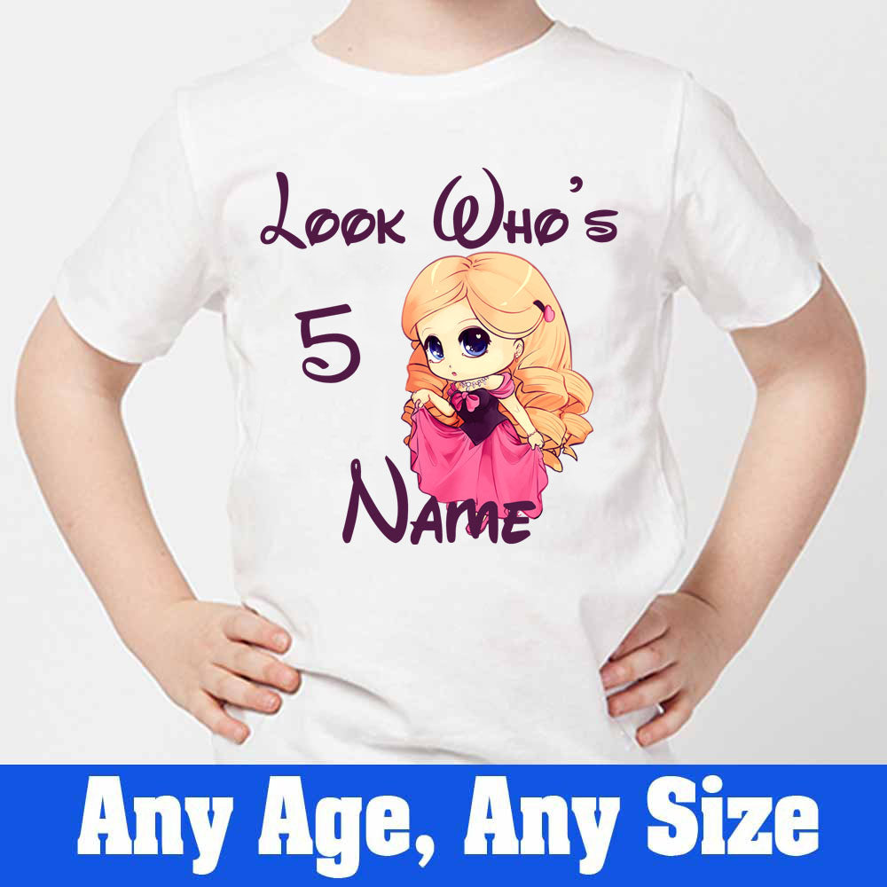 Sprinklecart Cute Little Girl Personalized Kids Poly-Cotton T Shirt for Your Little Princess (White)