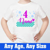Sprinklecart Cute Mermaid Themed Birthday Wear 4th Birthday T Shirt