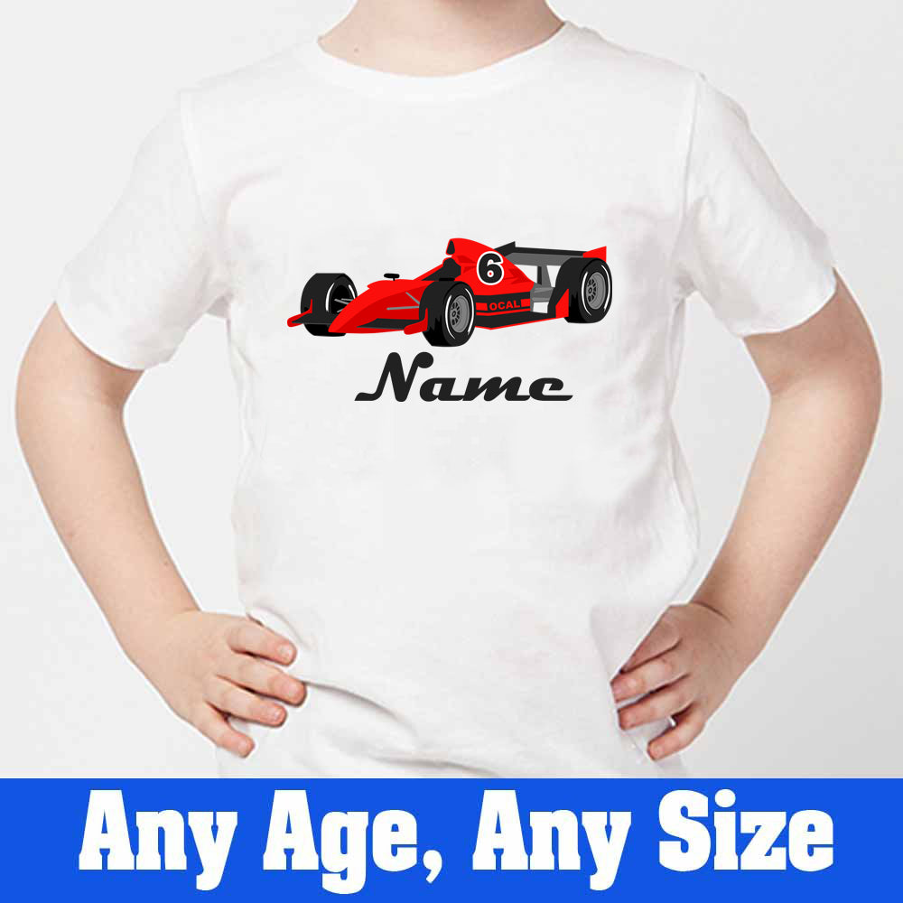 Sprinklecart Racing Car Birthday T Shirt | Cool Personalized 6th Birthday T Shirt for Your Little Hero