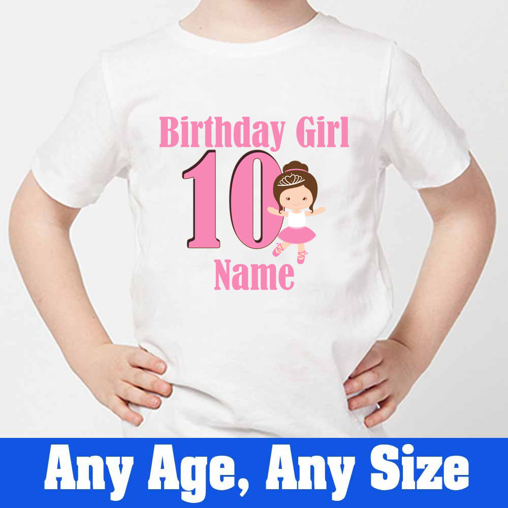 Sprinklecart 10th Birthday T Shirt for Your Princess | Customized Birthday Dress