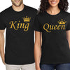 Sprinklecart King Queen Matching Cotton T Shirt Combo | Set of T Shirt for Couples