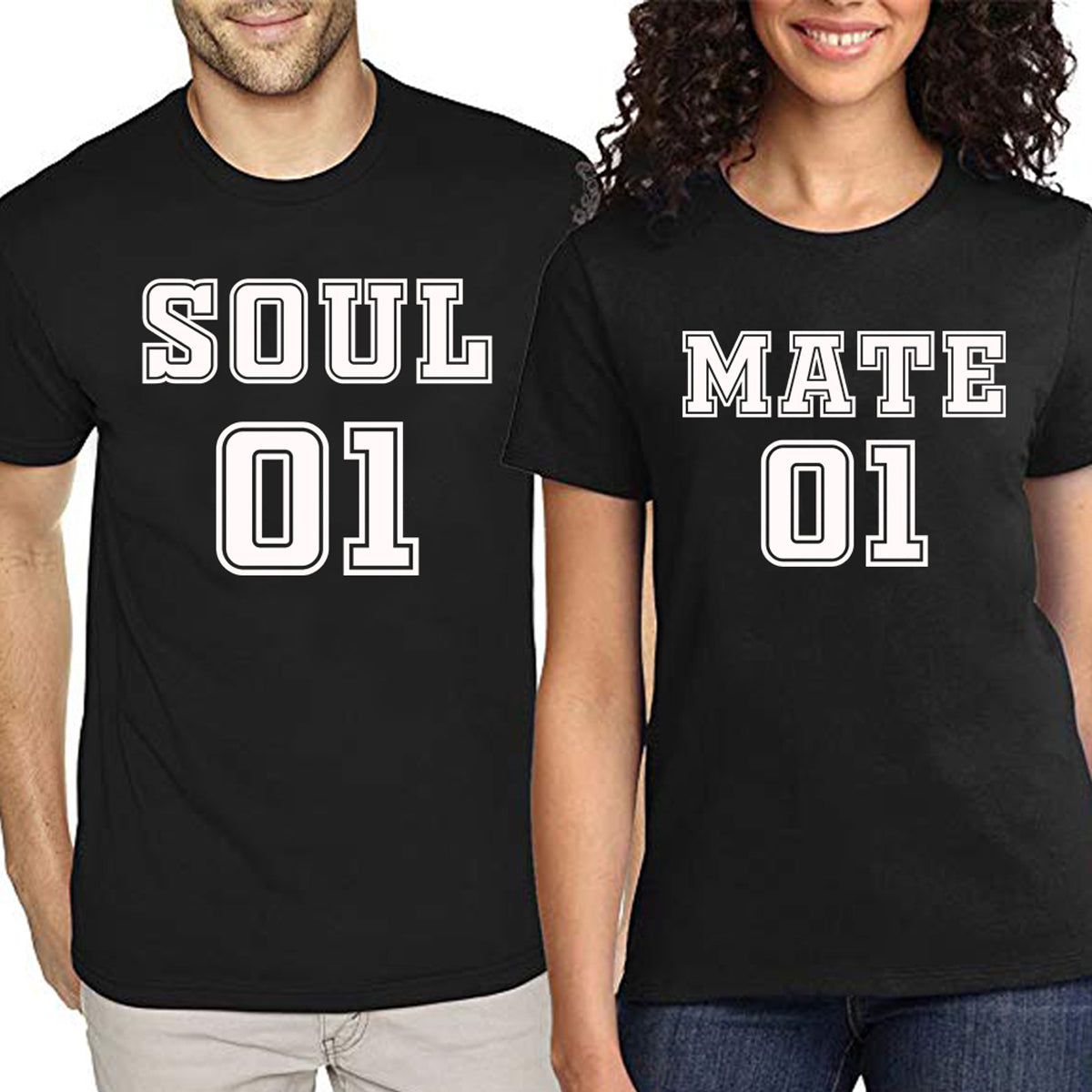 Sprinklecart Cotton T Shirt for Couples | Matching Soul Mate Printed T Shirts