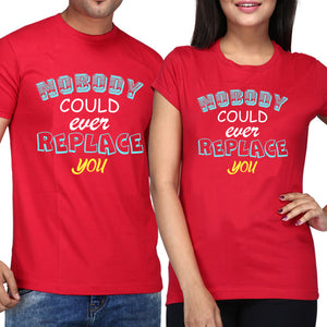 Sprinklecart Nobody Could Ever Replace You Couple T Shirt | Matching T Shirts