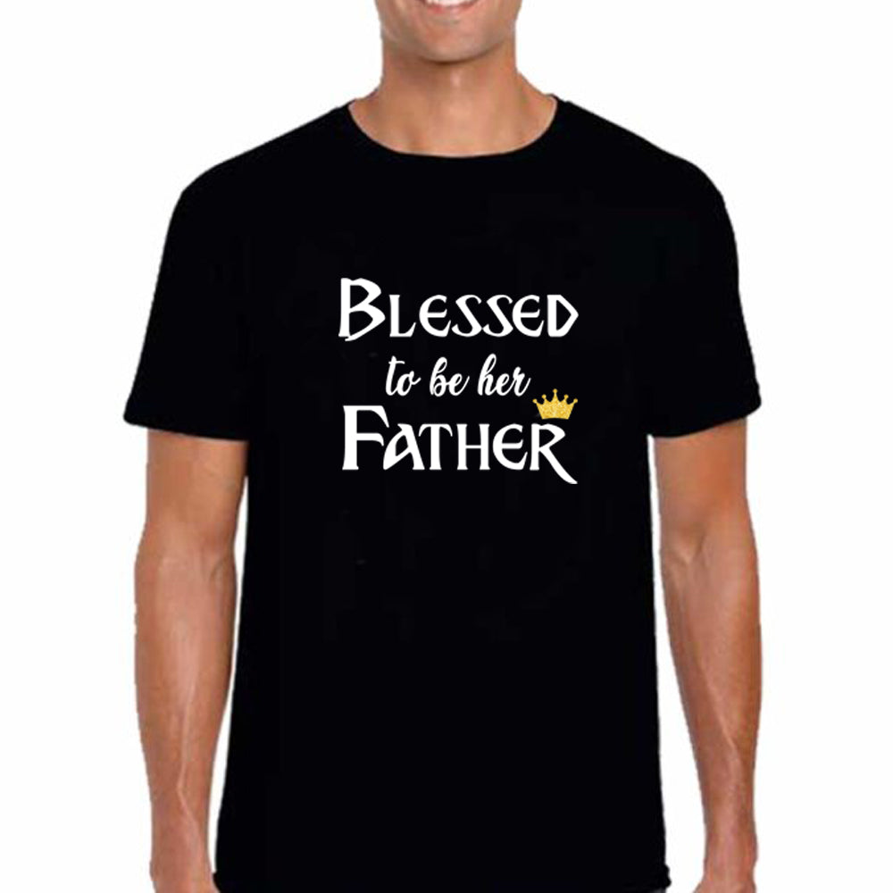 Sprinklecart Blessed to Be Her Father Blessed to Be Her Mother Blessed to Be Their Daughter Family T Shirt