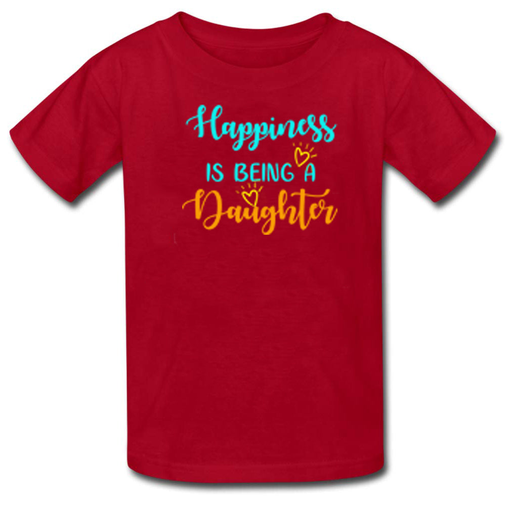 Sprinklecart Happiness is Being A Daddy Happiness is Being A Mommy Happiness is Being A Daughter Printed Family T Shirt