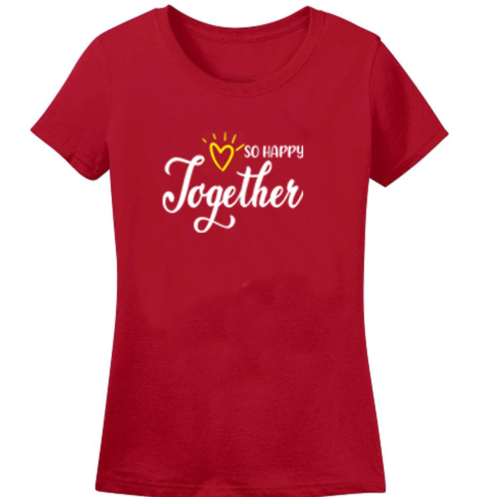 Sprinklecart So Happy Together Printed Family T Shirt | Matching T Shirt Combo