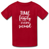 Sprinklecart Time Spent with Family is Worth Every Second Printed T Shirt