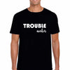 Sprinklecart Trouble Maker Trouble Printed Family T Shirt for Father Mother and Kid