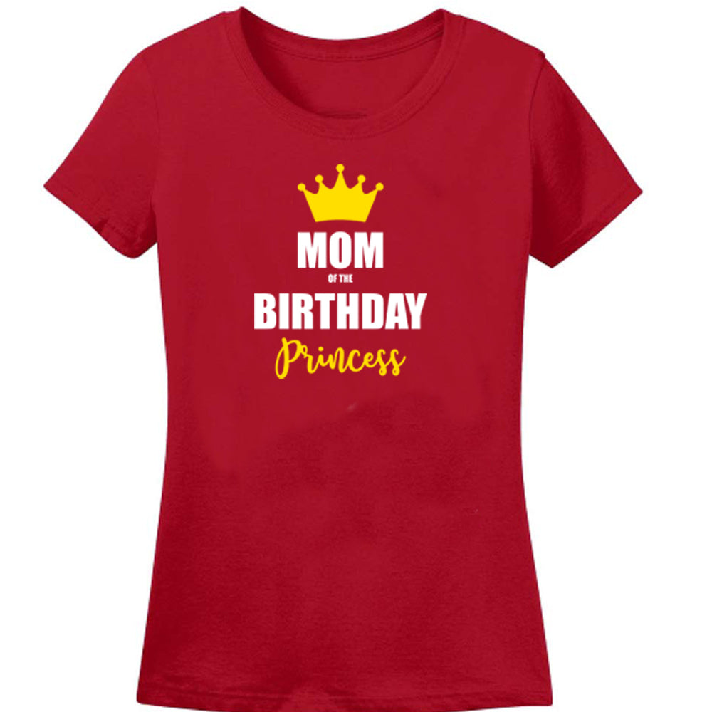 Sprinklecart Custom Age Printed Birthday Princess Printed 5th Birthday Men Women Kid Cotton Family T Shirts