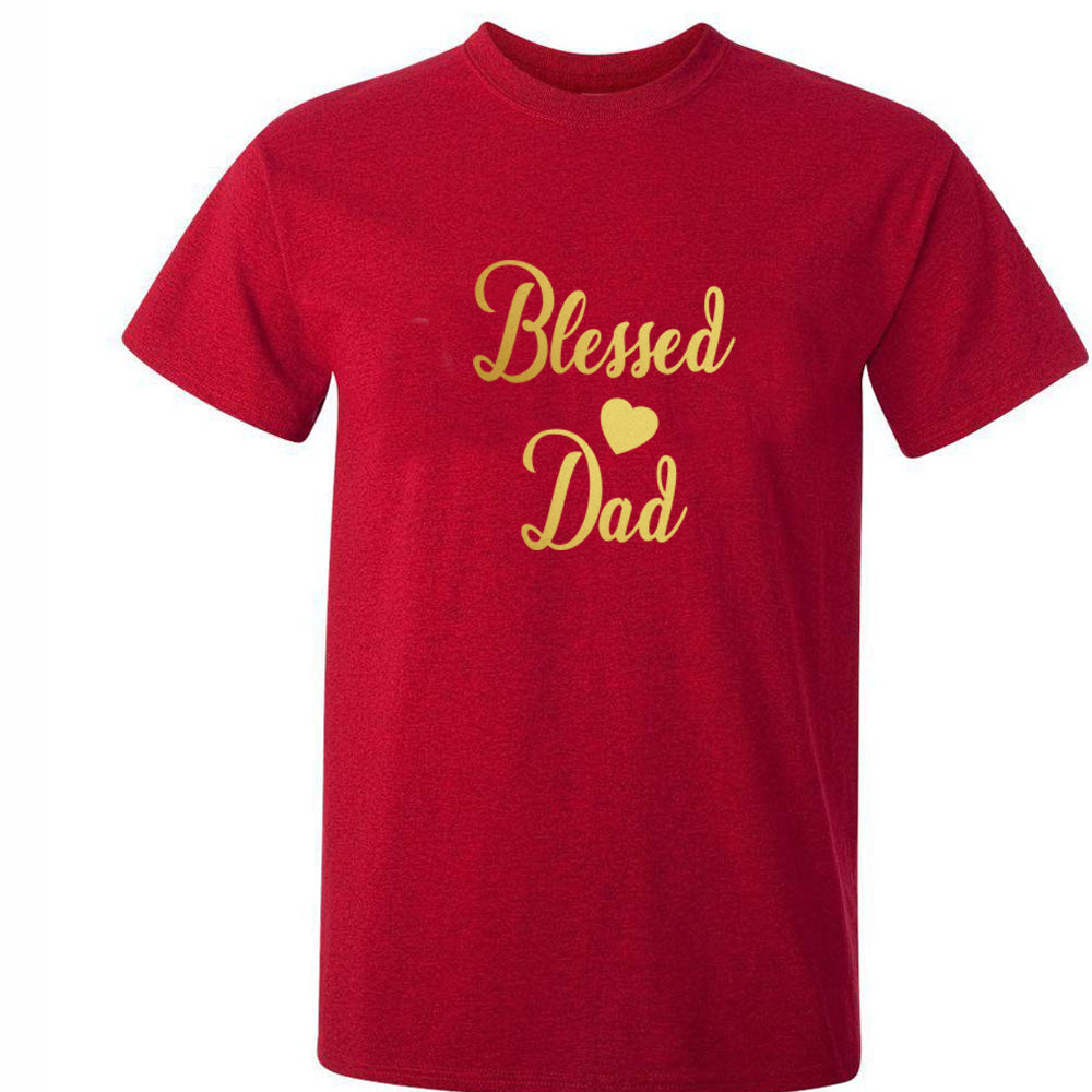Sprinklecart Blessed Dad Blessed Mom Blessed Kid Printed Cotton Family T Shirts