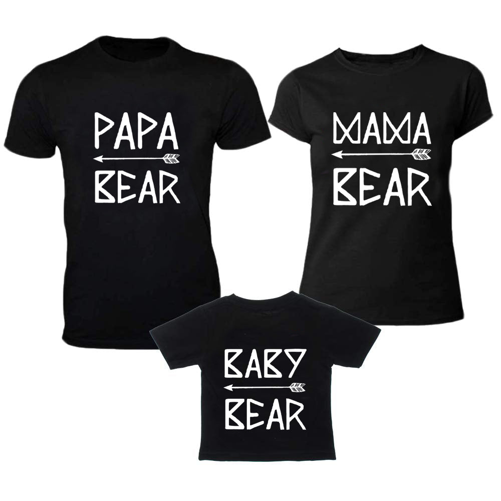 Sprinklecart Matching Papa Bear Mama Bear Baby Bear T Shirt | 100% Cotton T Shirt