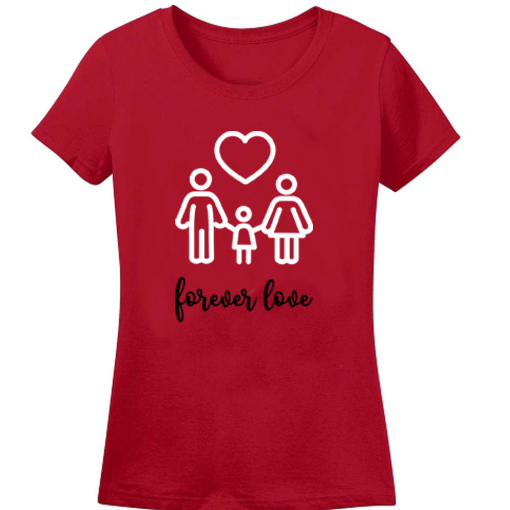 Sprinklecart Forever Love T Shirt for Family | Combo of 3 Matching Family T Shirt