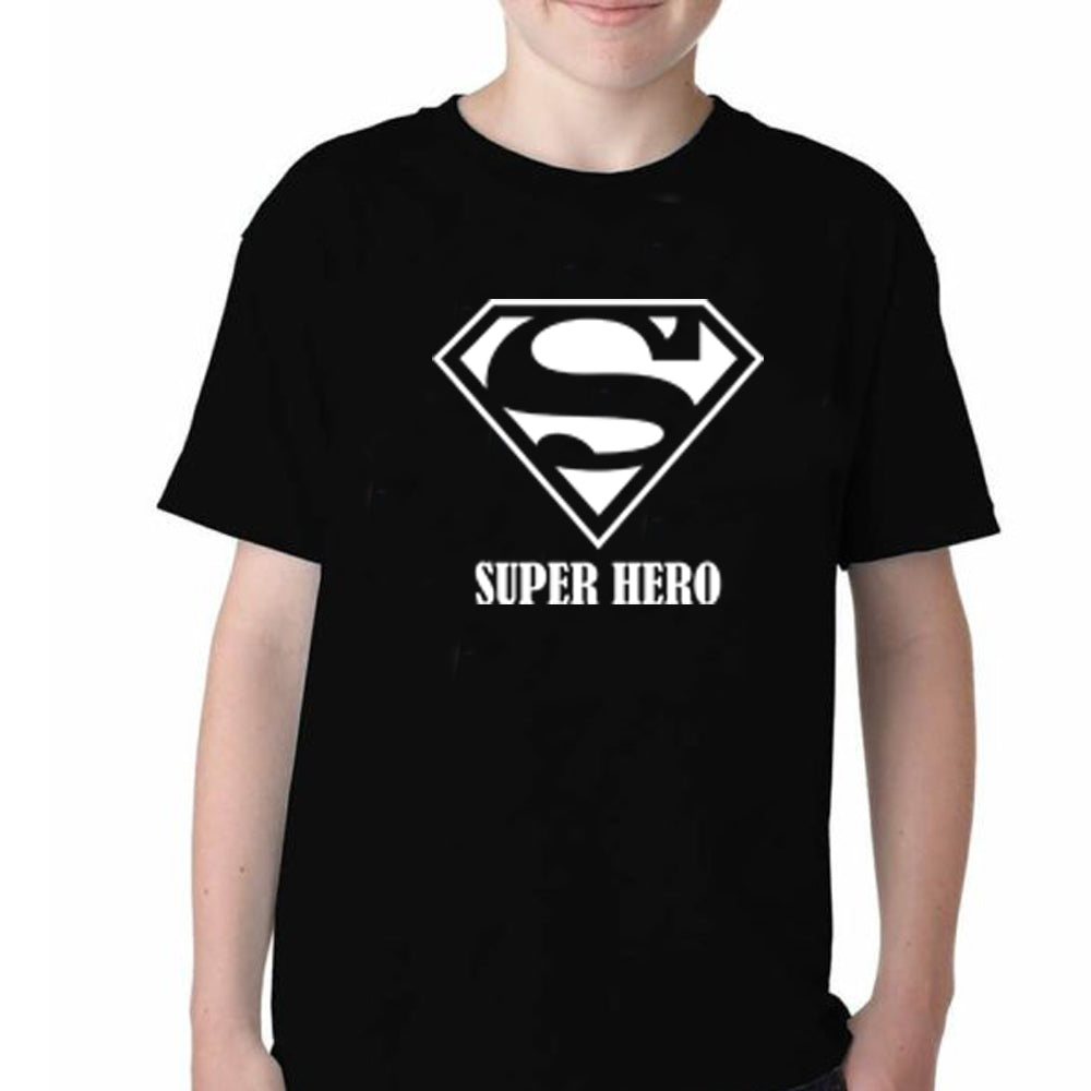 Sprinklecart Super Mom Super Dad Super Hero Printed T Shirt Cotton T Shirts
