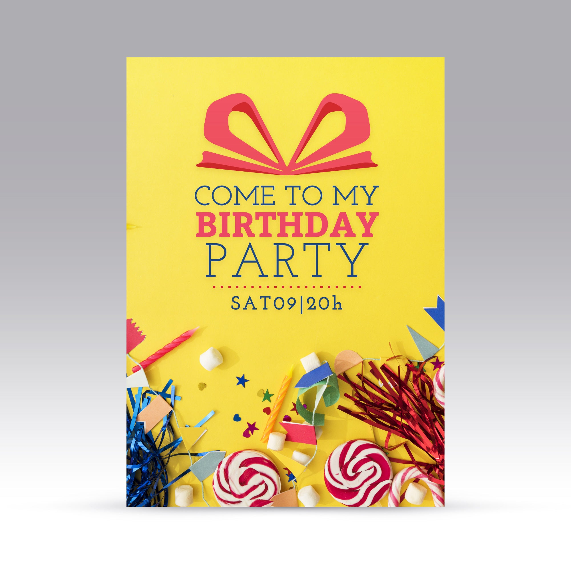 Come To My Birthday Party Simple Theme Invitation Card Set Of 25 Pcs