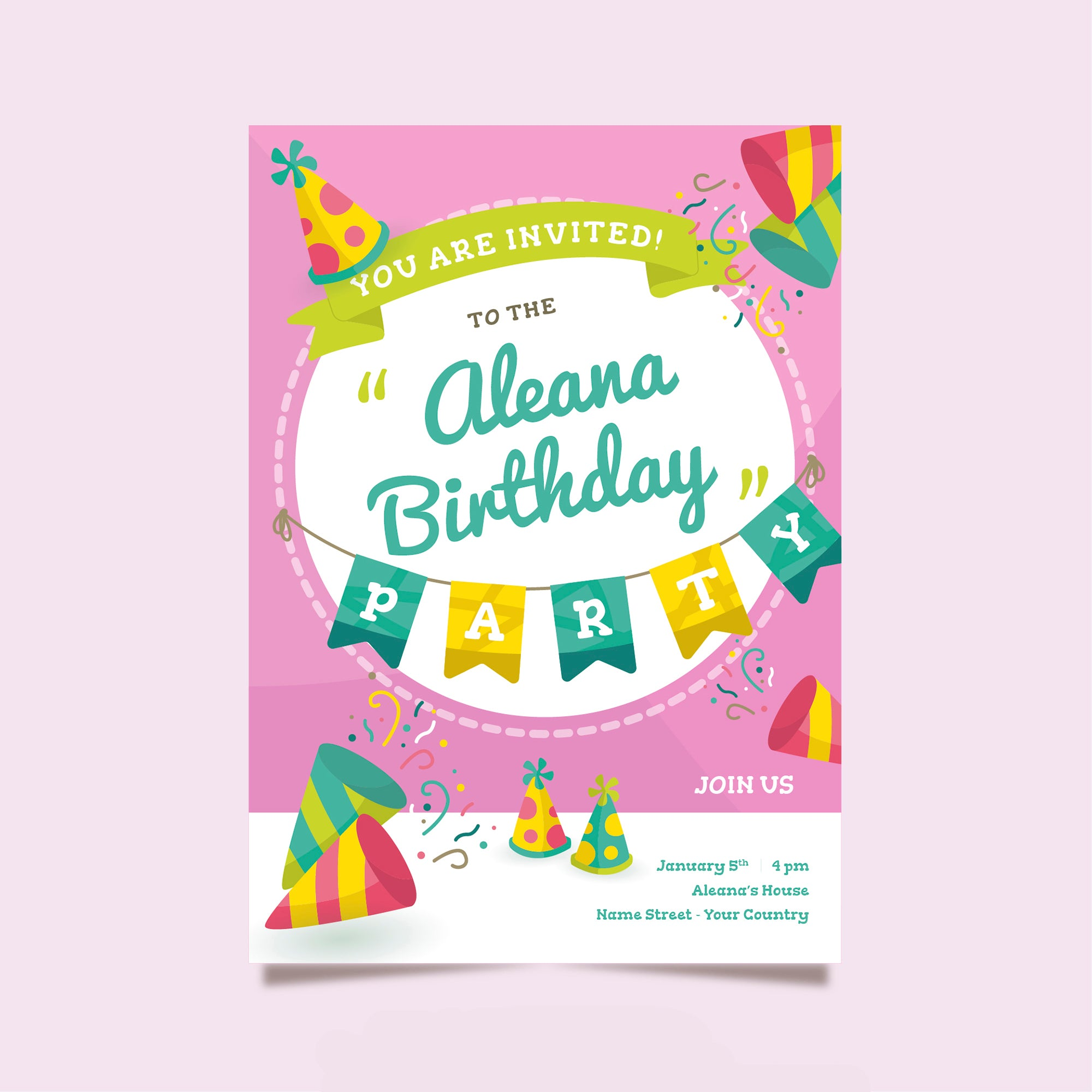 You Are Invited Birthday Party Invitation Card Set Of 25 Pcs