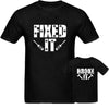 Sprinklecart Fixed It Broke It Matching T Shirt for Dad and Son | Black 100% Cotton T Shirt