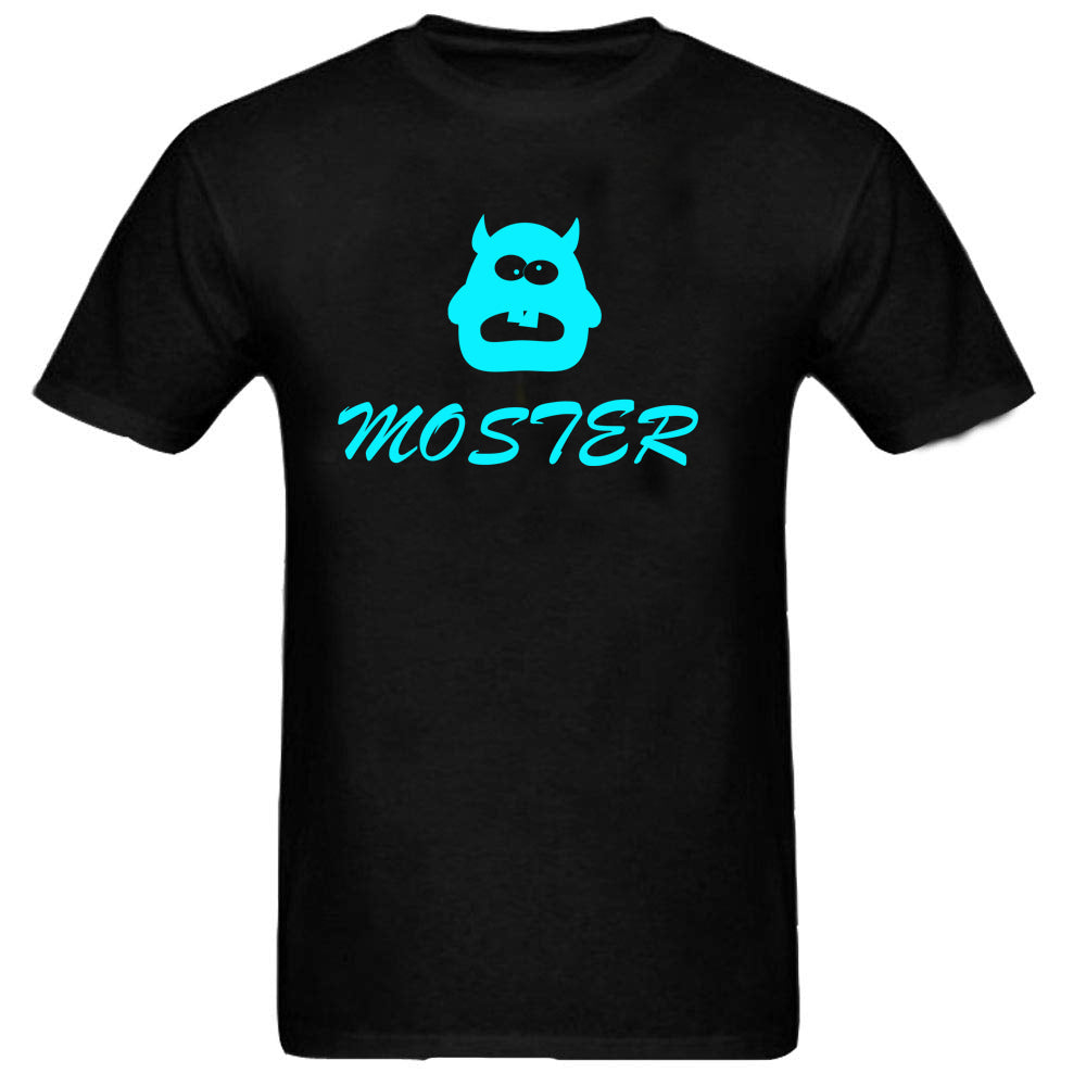 Sprinklecart Matching I've Created A Monster and Monster Printed T Shirts for Father and Son (Black)