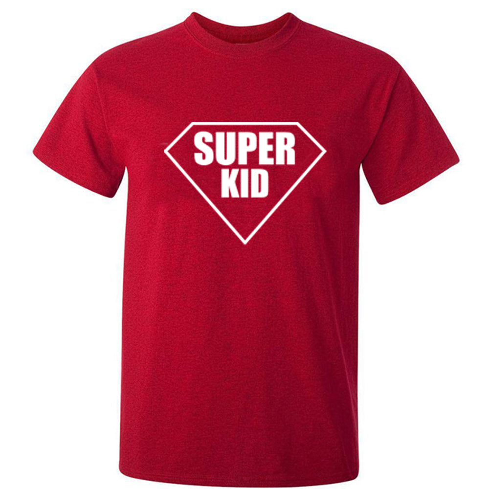 Sprinklecart Set of Super Dad Super Son Printed Red T Shirt | T Shirt Combo for Dad and Son
