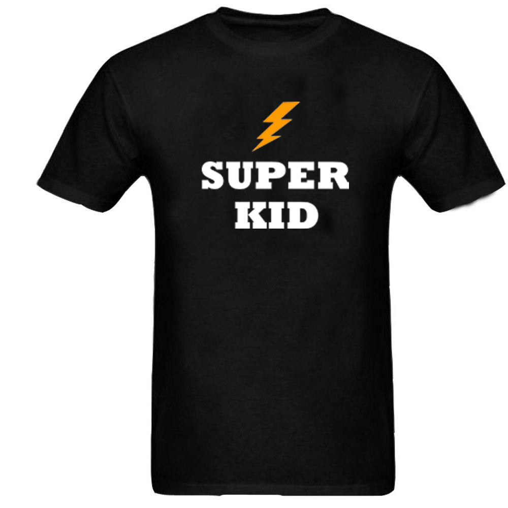 Sprinklecart Super Dad Super Son Printed Matching T Shirt for Father and Son | Black Cotton T Shirt Set