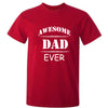 Sprinklecart Awesome Dad Ever Awesome Son Ever Printed Red Cotton T Shirt Set