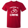 Sprinklecart Red Cotton Partners in Crime Printed T Shirt | Red Cotton T Shirt for Dad and Son