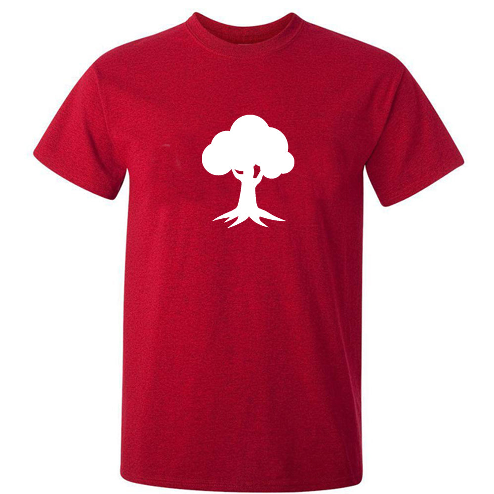 Sprinklecart Matching Acron Tree Themed Men Kid Cotton T Shirt Set for Dad and Kid (Red)
