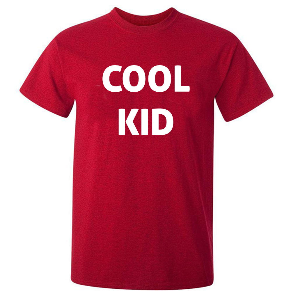 Sprinklecart Matching Men Kid Daddy Cool Cool Kid Cotton T Shirt Combo for Dad and Son (Red)