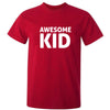 Sprinklecart Awesome Kid I Make Awesome Kid Printed Matching Men Kid Cotton T Shirts for Dad and Kid (Red)