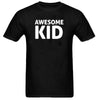 Sprinklecart Awesome Kid I Make Awesome Kid Printed Matching Men Kid Cotton T Shirts for Dad and Kid (Black)