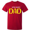 Sprinklecart Little Dude's Dad Dad's Little Dude Matching Men Kid Cotton T Shirt for Dad and Kid (Red)