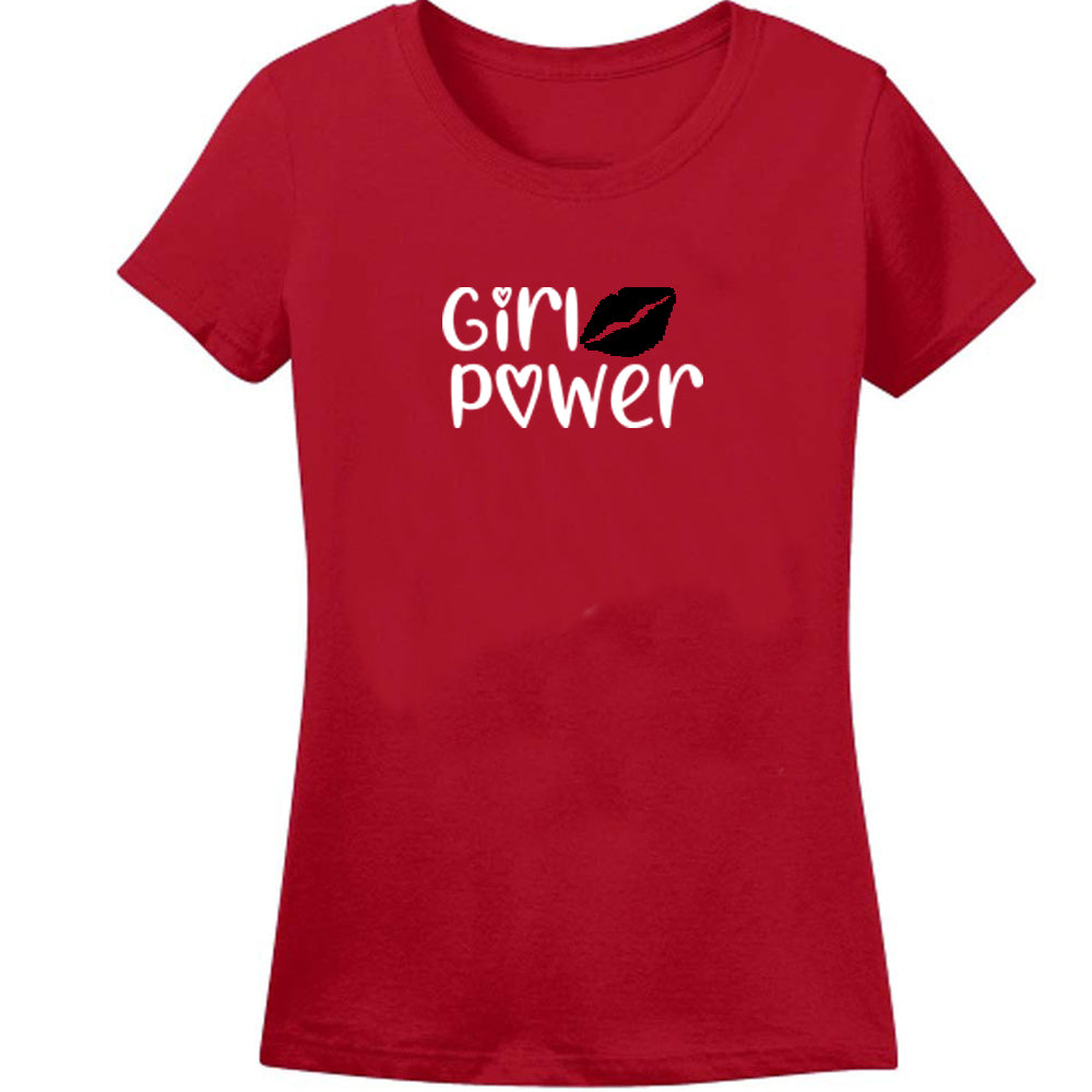 Sprinklecart Girl Power Matching T Shirt | Red Cotton T Shirt for Mother and Kid