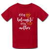Sprinklecart My Love Belongs to My Daughter My Love Belongs to My Mother Matching T Shirt (Red)