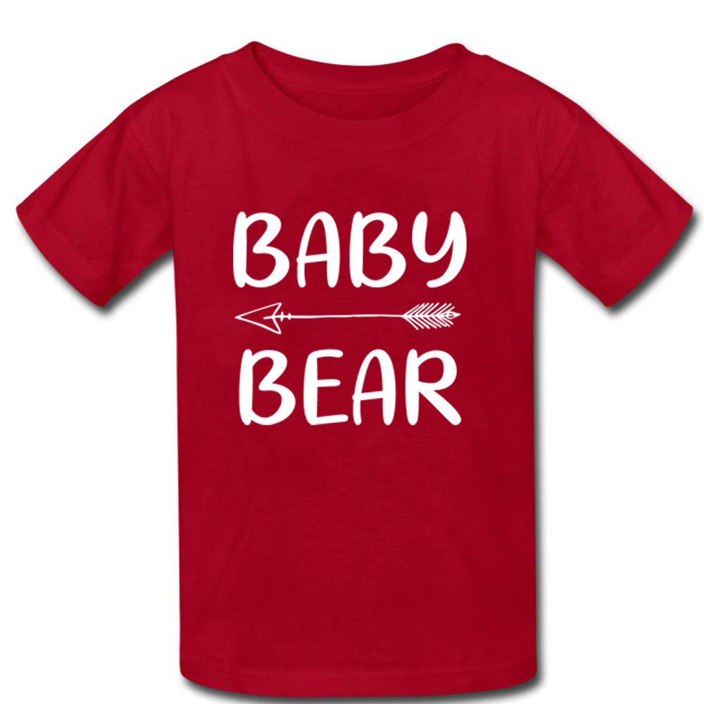 Sprinklecart Baby Bear Mama Bear T Shirt | Combo of 2 Red T Shirts for Mother and Kid