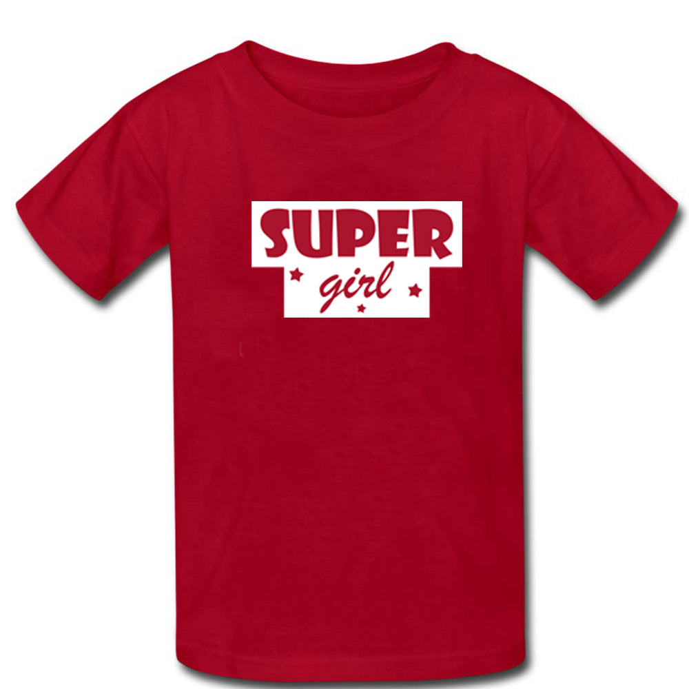 Sprinklecart Matching Super Girl T Shirt | Cool Cotton Red T Shirts for Mother and Daughter