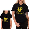 Sprinklecart Mama's Little Princess Mama of a Little Princess Printed T Shirts for Mom and Kid (Black)