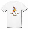 Sprinklecart Custom Name Printed Back to School Poly-Cotton Kids T Shirt Wear (White)