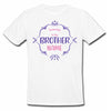 Sprinklecart Promoted to Big Brother Printed Customized Name Printed Poly-Cotton Kids T Shirt (White)