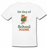 Sprinklecart First Day of School Themed Customized Kids Poly-Cotton T Shirt Wear (White)