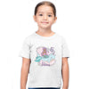 Sprinklecart Mermaid 5th Birthday Customized Kids Poly-Cotton T Shirt (White)
