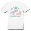 Sprinklecart Personalized Name Printed Mermaid Poly-Cotton T Shirt for Kids (White)