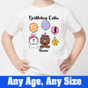 Sprinklecart Personalized Name Printed Cute Animals Kids Poly-Cotton T Shirt Wear (White)