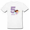 Sprinklecart Customized Name and Age Printed 5th Birthday Fairy Poly-Cotton T Shirt for Kids (White)