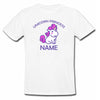 Sprinklecart Customized Unicorn Princess Poly-Cotton T Shirt for Kids (White)