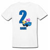 Sprinklecart Personalized Name Printed Bird's 2nd Birthday Poly-Cotton T Shirt for Kids (White)