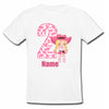 Sprinklecart Customized Pink Cow Girl 2nd Birthday Poly-Cotton T Shirt Wear for Kids (White)