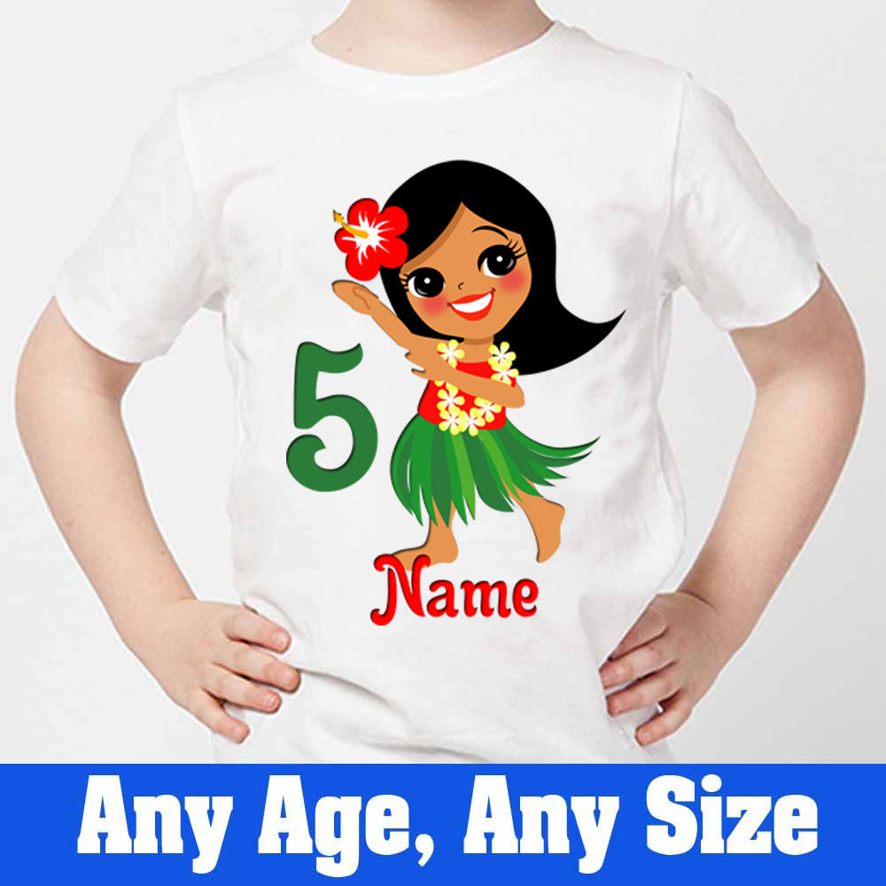 Sprinklecart Personalized Cute Girl 5th Birthday Poly-Cotton T Shirt for Kids (White)