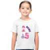 Sprinklecart Customized Ballet Dancer 5th Birthday Poly-Cotton T Shirt for Kids (White)